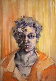 Portrait- Gray and Orange